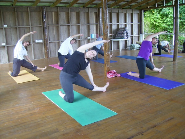 Ladies doing a Side Bend Exercise
