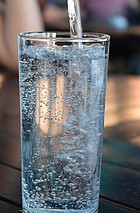 Tall Glass full of Sparkling Water