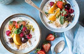 2 Bowls Yogurt and Fruit