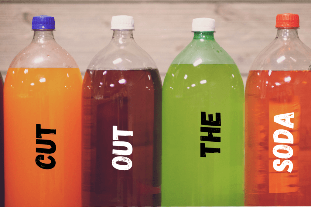 Cut out Soda Printed on 4 X 2 Litre Soda Bottles